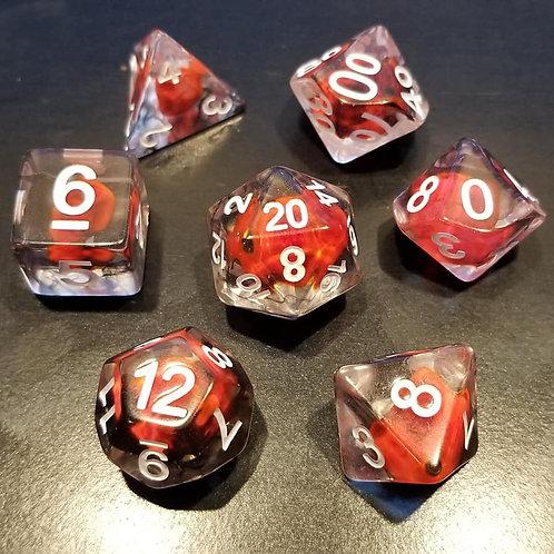 Red Flameskull Dice Set