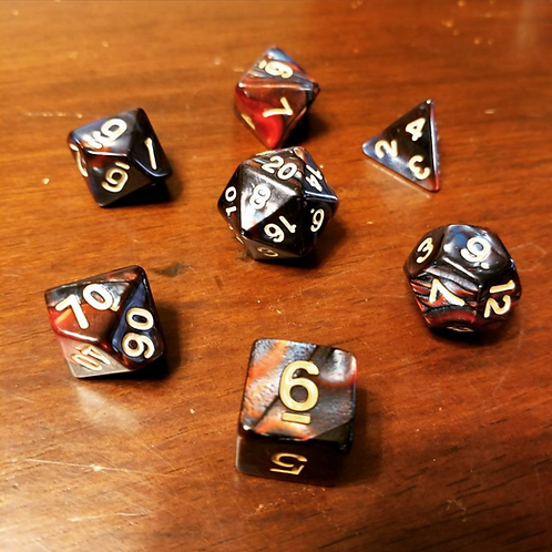 Molten Granite Dice Set