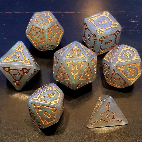White Gold Tower 25mm Colossal Dice Set