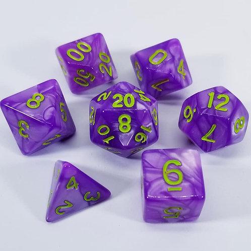 Underdark Purple Dice Set