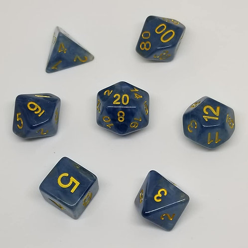 Ice Flow Polyhedral 7-Die Dice Set
