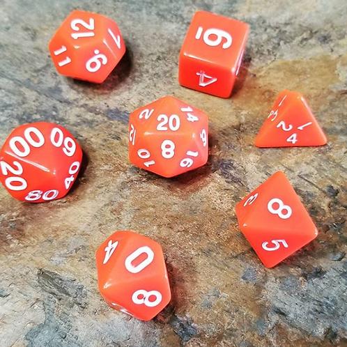Basic Orange Polyhedral 7-Die Dice Set