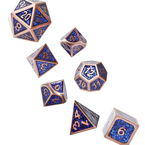 Bardic Inspiration - Metal 7 Dice Set
