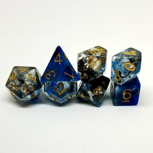 Smoky Cobalt Dice Set