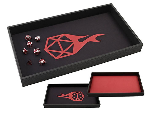 Red Dice Tray - Reversible Red/Black Rolling Mat