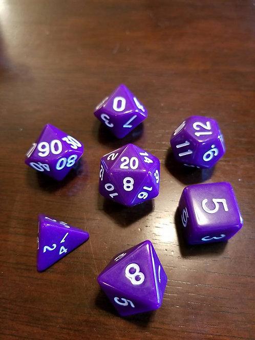 Basic Purple Dice Set