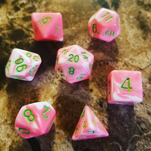 Unicorn Flesh Dice Set