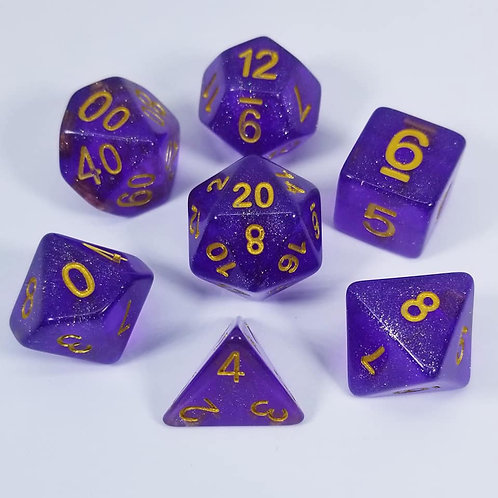 Eladrin Purple Dice Set