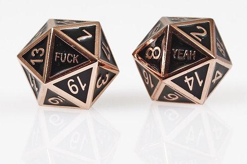 Copper F&#k Yeah Metal d20 set