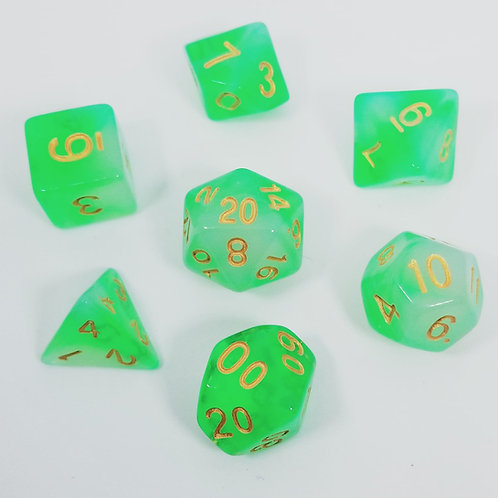 Storm Giant Green Polyhedral 7-Die Dice Set