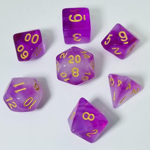 Eldritch Purple Polyhedral 7-Die Dice Set
