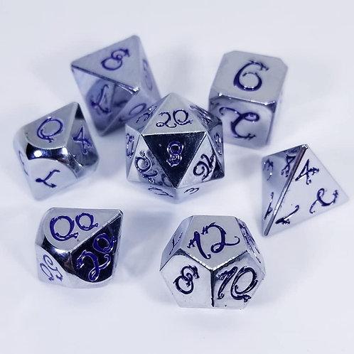 Purple Chromium Dragon Metal Dice Set