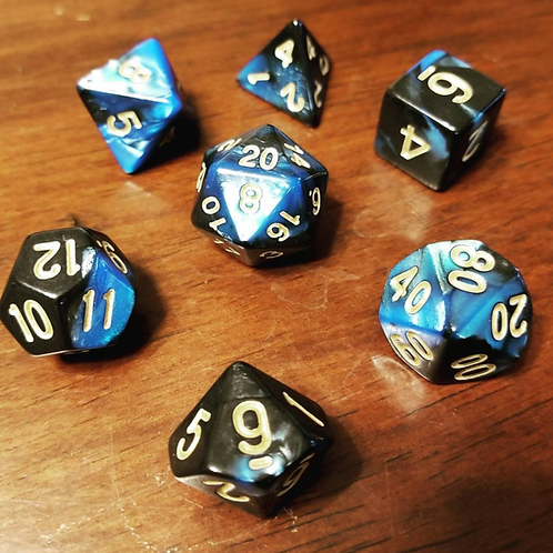 Galactic Blue Dice Set