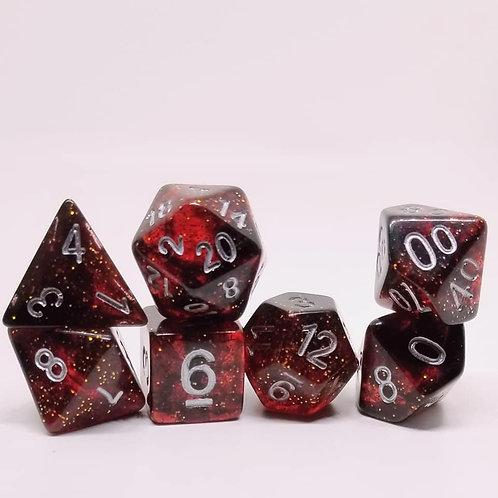 Bloodstone Polyhedral 7-Die Dice Set