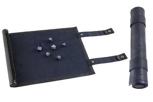 Blue Leather Dice Scroll