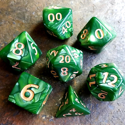 Colossal Green Polyhedral Dice Set