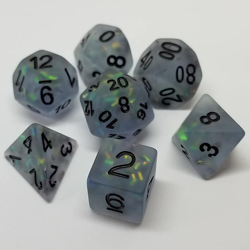 Luminous Moonshade Dice Set