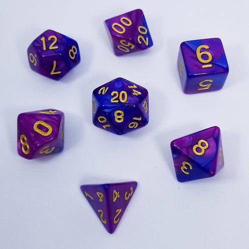 Dark Carnival Polyhedral 7-Die Dice Set