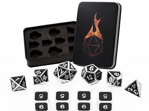 Onyx Guardian Metal Dice - 10 Die Set