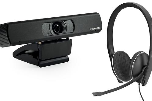 Konftel CAM 20 + EPOS SC 165 for personlig videokonferanse