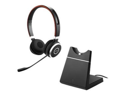 Jabra Evolve 65 UC Stereo m/bordlader og Link 360 USB adapter