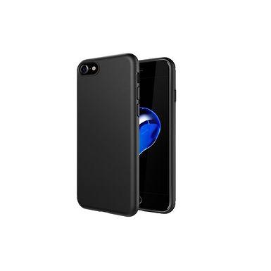 dfrnt Slim Cover iPhone 8/7 (SE 2020) Matt TPU deksel, 1mm, Sort
