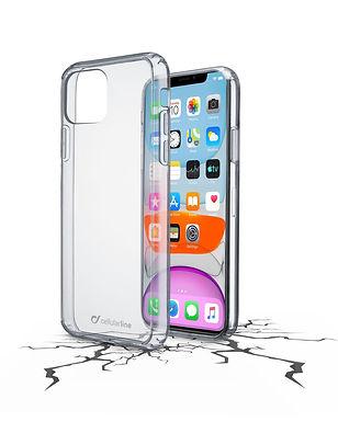 CL Clear Duo iPhone 11 Pro Plastdeksel m/gummiramme, gjennomsiktig