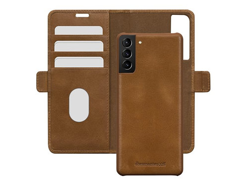 Lommebokdekselet til Galaxy S21 i ekte brunt skinn