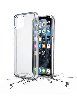 CL Clear Duo iPhone 11 Pro Max Plastdeksel m/gummiramme, gjennomsiktig