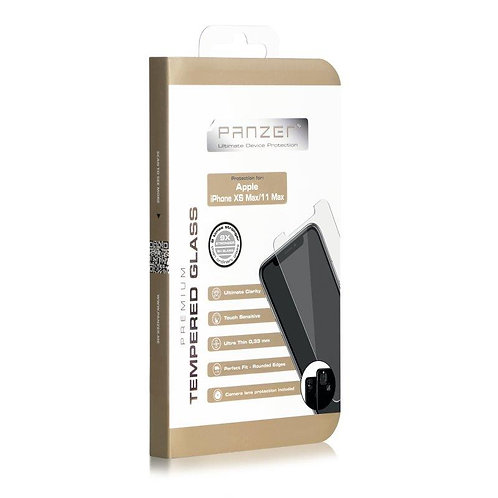 Panzer iPhone 11 Pro Max/XS Max Skjermbeskytter, Herdet Glass