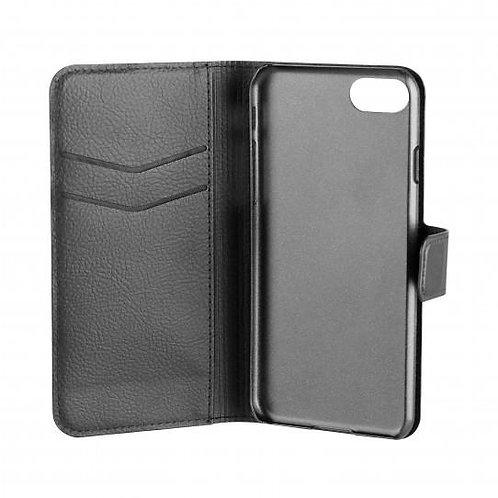 Xqisit Slim Wallet i SE /8/i7, Black Slim Wallet Case iPhone SE/8/7/6s/6