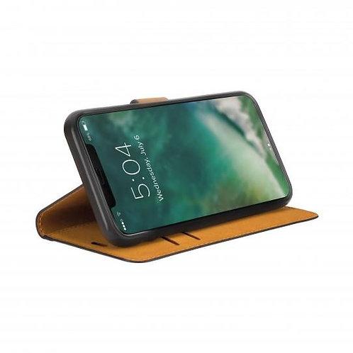 Xqisit Slim Wallet iPhone 11, Black Slim Wallet Case iPhone 11