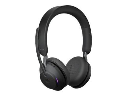 Jabra EVOLVE2 65 MS Stereo Bluetooth USB m/Link380a USB Adapt Certified MS Teams