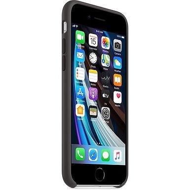 Apple Silikondeksel SE (2020), Svart Deksel til iPhone SE (2020)