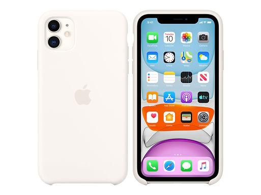 Apple Silikondeksel 11 Pro Max, Hvit Deksel til iPhone 11 Pro Max