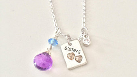 Silver Sisters Charm Necklace