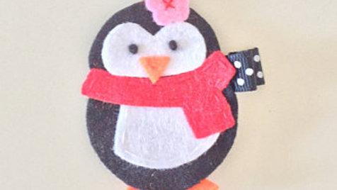 Penguin Hair Clip