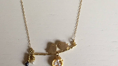 Little Gold Doves Necklace