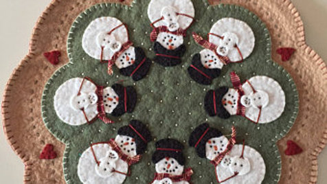 Snowman Circle Penny Mat