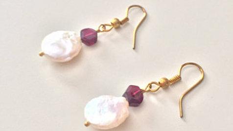 Rosy Bead Earrings