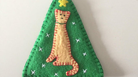 Kitty Christmas Tree Ornament