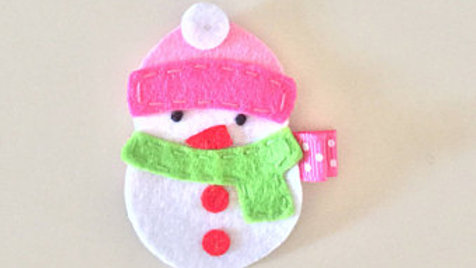 Little Snowman Hair Clip