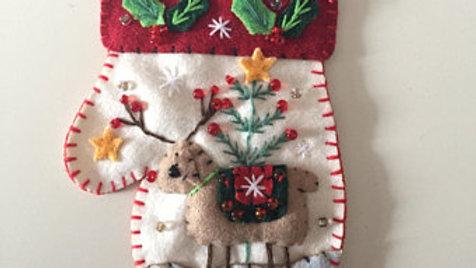 Reindeer Mitten Christmas Ornament