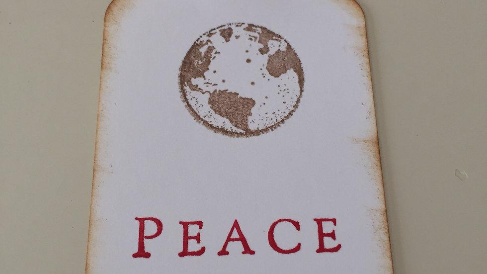 Peace Christmas Gift Tags - Set of 5