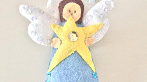 Blue Angel Christmas Ornament