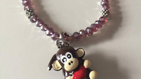 Beaded Monkey Charm Bracelet