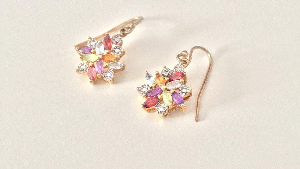 Vermeil Stone Earrings