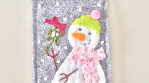 Rectangle Snowman Christmas Ornament