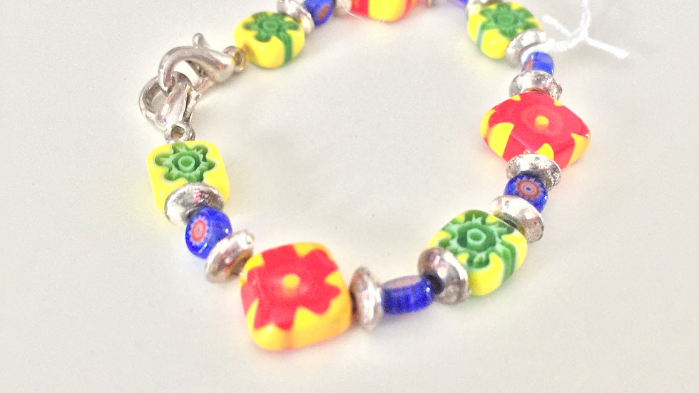 Brightly Beaded Child's Bracelet