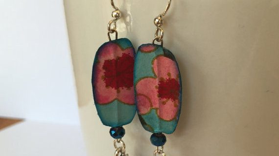Floral Paper Earrings